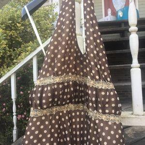 Julian Taylor halter top polka dot dress